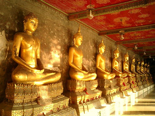 Golden Buddhas at Wat Suthat