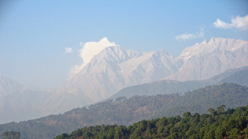 The Himalaya giants in the background