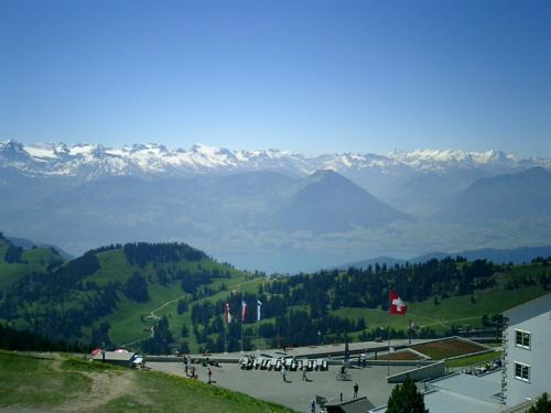 Auf dem Rigi, Blick auf die Alpen