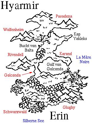 Karte von Hyarmir und Erin