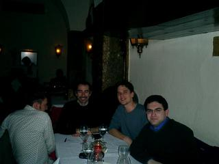 Andreas, Fabrizio, me, and Vaggelis in the Club do Fado