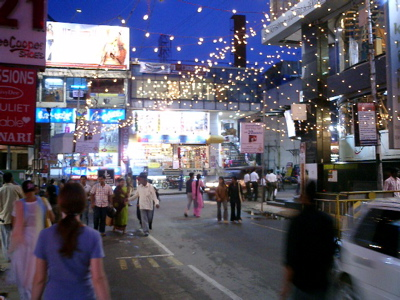 Commercial Street at night