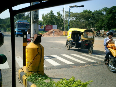 Mysore, notice the auto-scooter on three wh