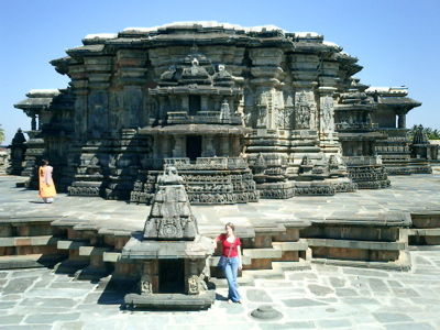 The main temple building in Belur