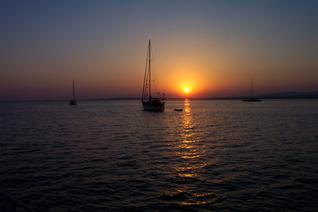 Sunset at the anchor place