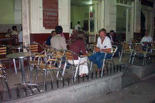 Sitting in a café in the medina