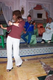 Claudia dances