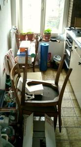 Die Küche als Zwischenlager