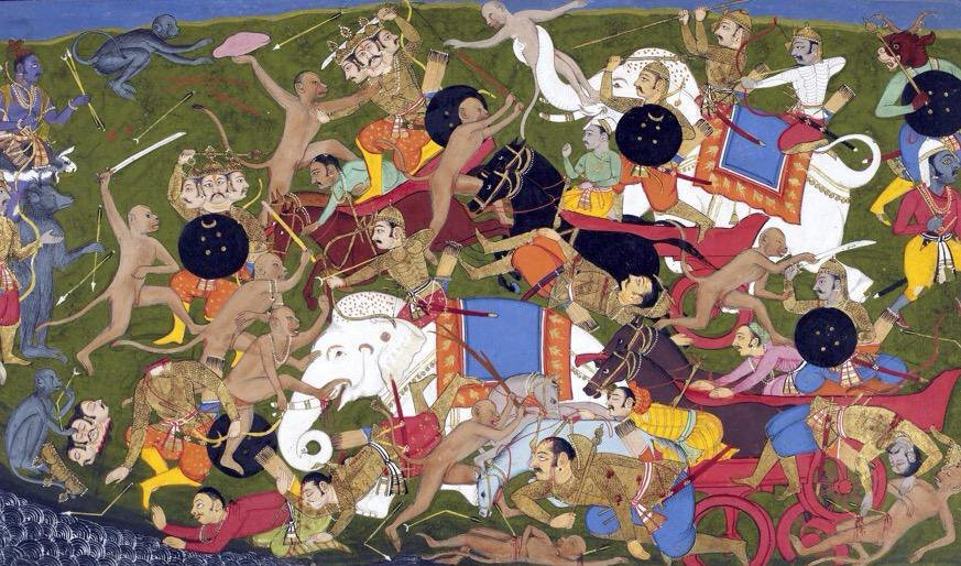 The battle at Lanka from the Rāmāyaṇa