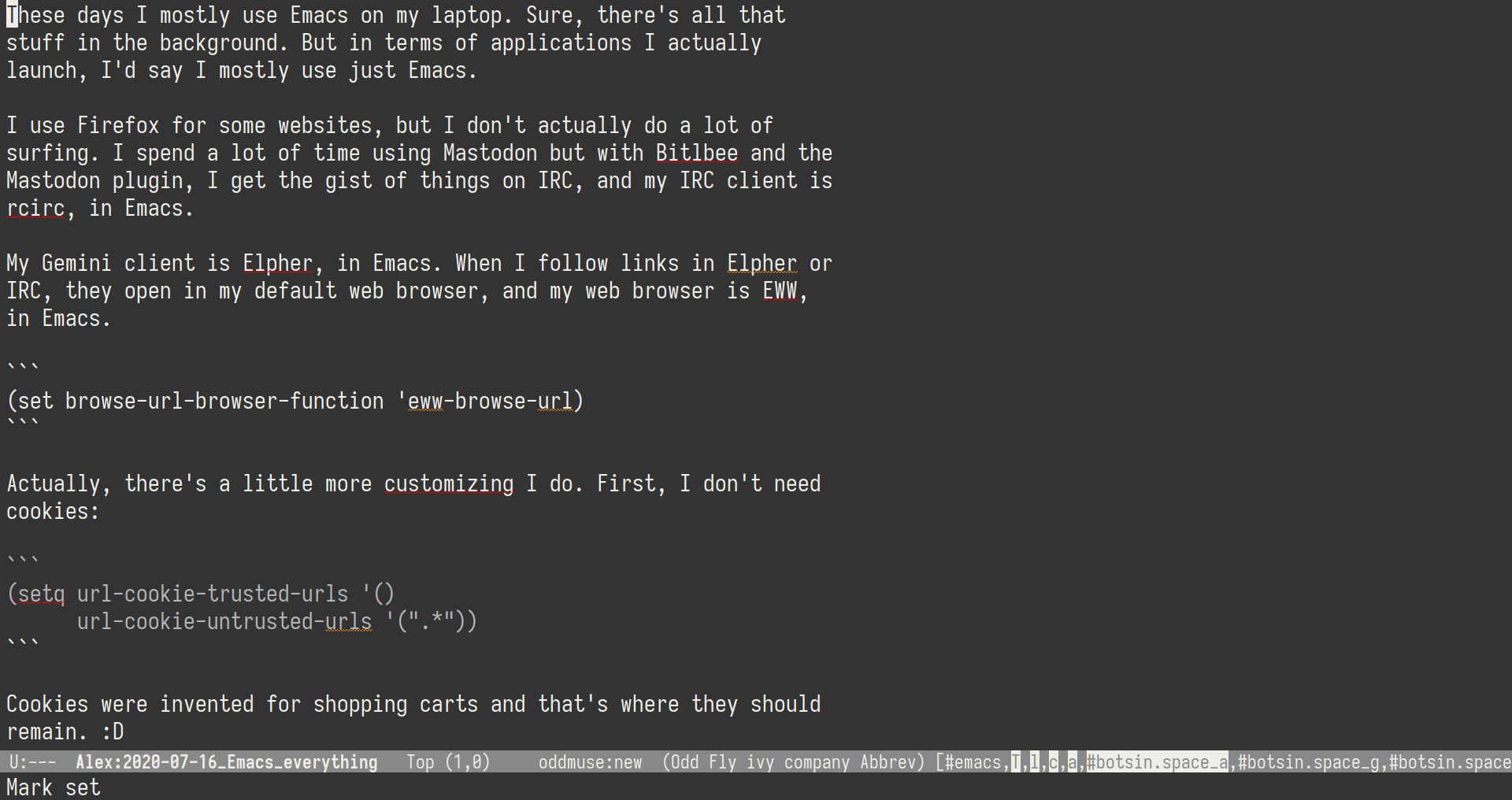 Image 1 for 2020-07-16 Emacs everything