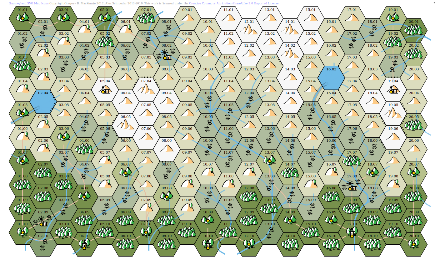 Alpine Hex Map