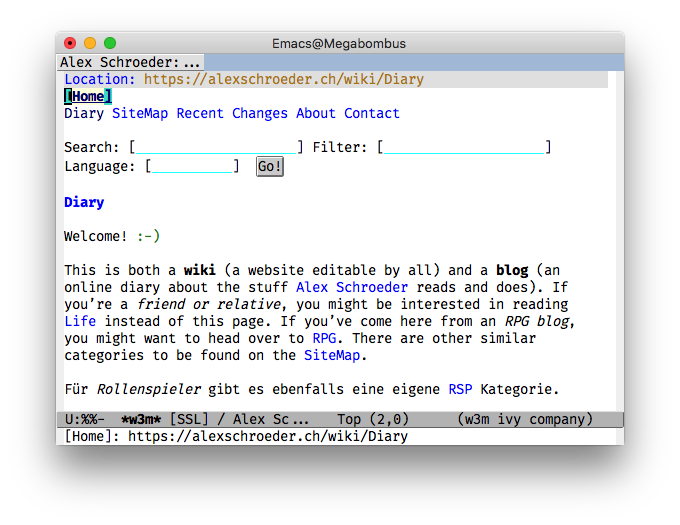 Emacs/w3m screenshot